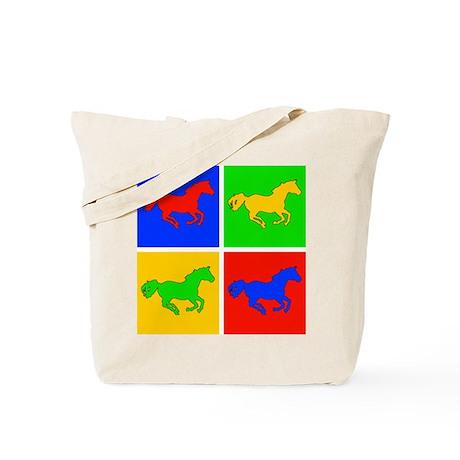 Retro Horse Design Tote Bag