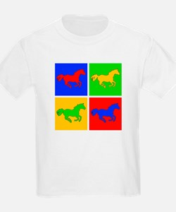 Retro Horse Design Kids T-Shirt
