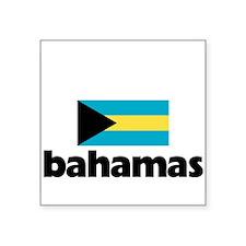 I HEART BAHAMAS FLAG Sticker