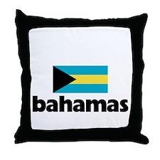 I HEART BAHAMAS FLAG Throw Pillow