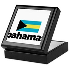I HEART BAHAMAS FLAG Keepsake Box