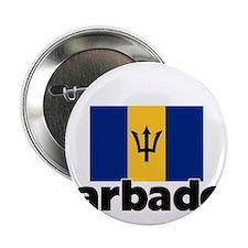 """I HEART BARBADOS FLAG 2.25"""" Button"""