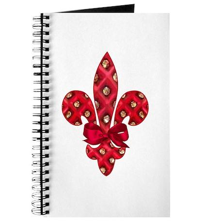 Red Holiday Fleur de lis Journal