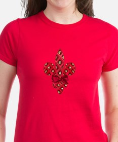 Red Holiday Fleur de lis Tee