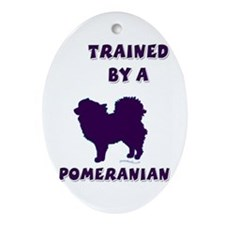 Pomeranian Ppl Oval Ornament