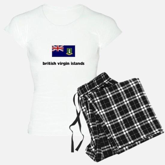 I HEART BRITISH VIRGIN ISLANDS FLAG Pajamas