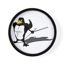 Strong Penguin Wall Clock