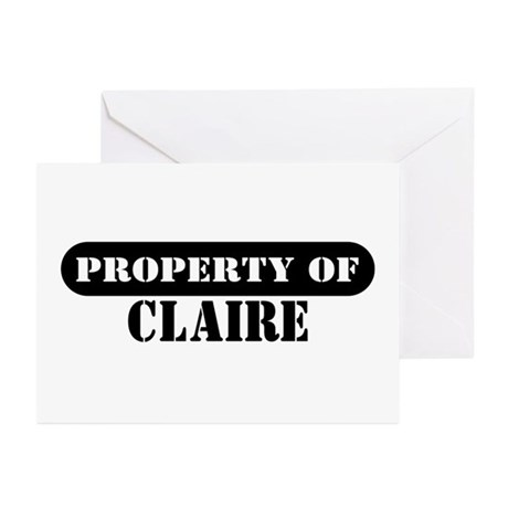 Property of Claire Greeting Cards (Pk of 10)