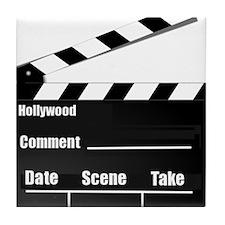 Movie Clapper Board Tile Coaster