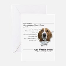 Shakespeare Basset Quote Greeting Cards (Package o