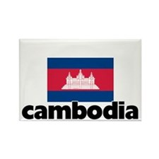 I HEART CAMBODIA FLAG Rectangle Magnet
