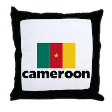 I HEART CAMEROON FLAG Throw Pillow