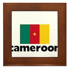 I HEART CAMEROON FLAG Framed Tile
