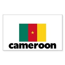 I HEART CAMEROON FLAG Decal