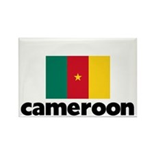 I HEART CAMEROON FLAG Rectangle Magnet