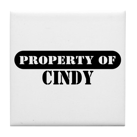 Property of Cindy Tile Coaster