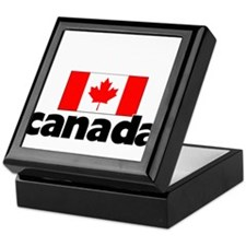 I HEART CANADA FLAG Keepsake Box