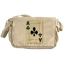 Ace of Clubs Playing Card Messenger Bag