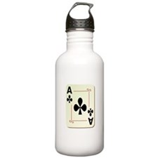 Ace of Clubs Playing Card Water Bottle