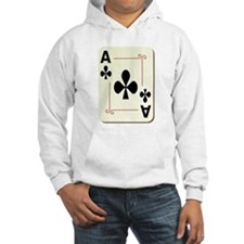 Ace of Clubs Playing Card Hoodie