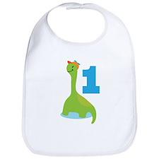 Dinosaur Babys 1st Birthday Bib