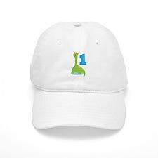 Dinosaur Babys 1st Birthday Baseball Cap