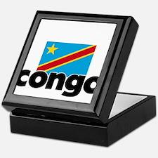 I HEART CONGO FLAG Keepsake Box