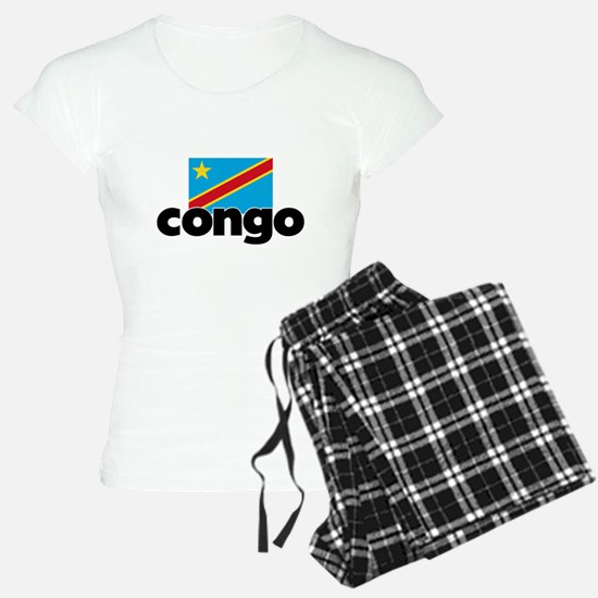 I HEART CONGO FLAG Pajamas