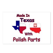 Made In Texas With Polish Parts Postcards (Package