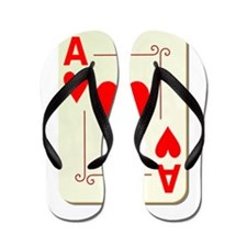 Ace of Hearts Playing Card Flip Flops