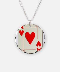 Ace of Hearts Playing Card Necklace