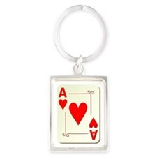 Ace of Hearts Playing Card Keychains