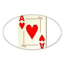 Ace of Hearts Playing Card Decal