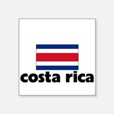 I HEART costa rica FLAG Sticker
