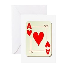 Ace of Hearts Playing Card Greeting Card