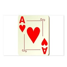 Ace of Hearts Playing Card Postcards (Package of 8