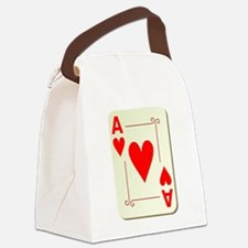 Ace of Hearts Playing Card Canvas Lunch Bag