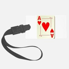 Ace of Hearts Playing Card Luggage Tag