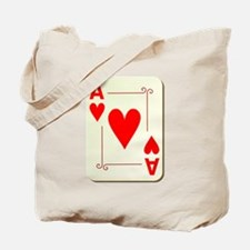 Ace of Hearts Playing Card Tote Bag