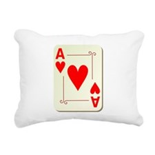Ace of Hearts Playing Card Rectangular Canvas Pill