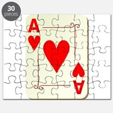 Ace of Hearts Playing Card Puzzle
