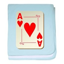 Ace of Hearts Playing Card baby blanket