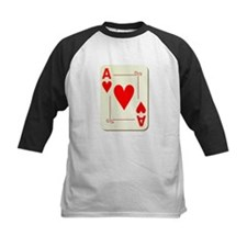 Ace of Hearts Playing Card Baseball Jersey