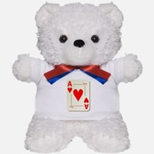 Ace of Hearts Playing Card Teddy Bear
