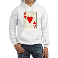 Ace of Hearts Playing Card Hoodie