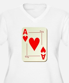 Ace of Hearts Playing Card Plus Size T-Shirt