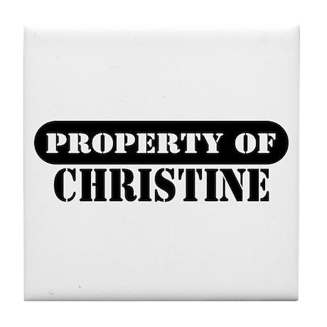 Property of Christine Tile Coaster
