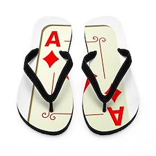 Ace of Diamonds Playing Card Flip Flops