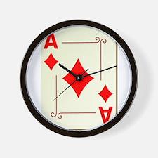 Ace of Diamonds Playing Card Wall Clock