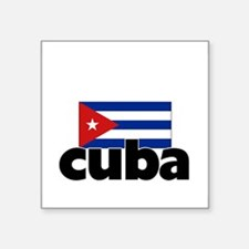 I HEART CUBA FLAG Sticker